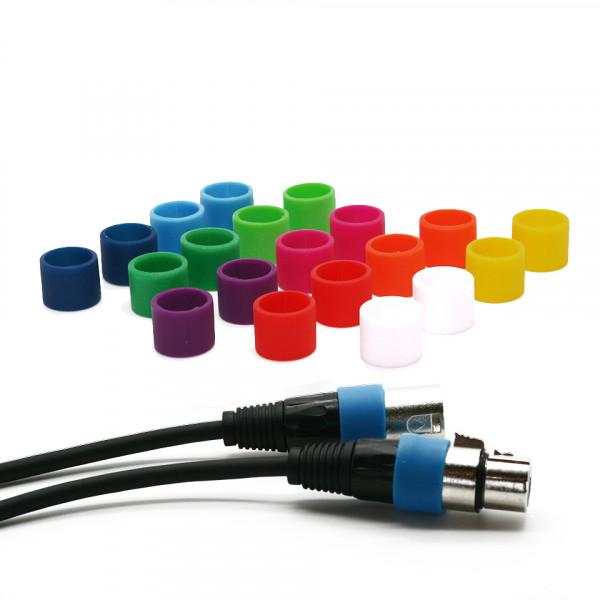 Codeerringen multicolor (S) voor XLR kabels
