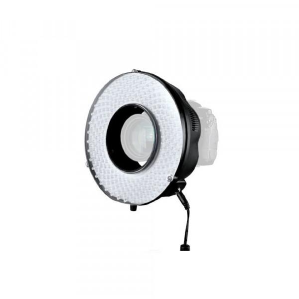 Falcon Eyes LED Ringlamp Set DVR-240DF op Batterij/230V - dimbaar