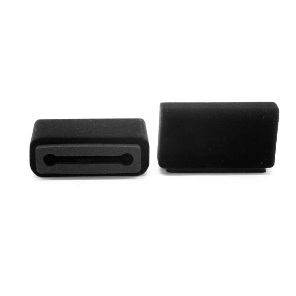 Plopkap voor iPhone 6, 7, 8 (NIET PLUS) zwart geflockt