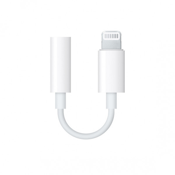 Apple Lightning naar headphone jack adapter