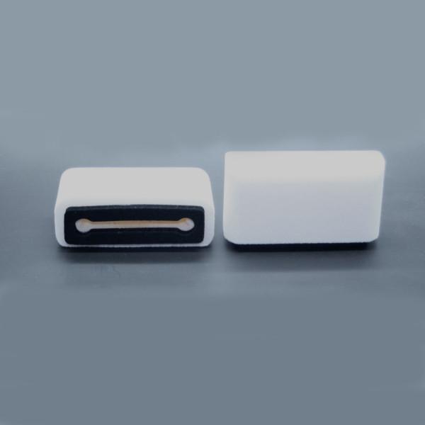 Plopkap voor iPhone 6, 7, 8  (NIET PLUS) wit geflockt