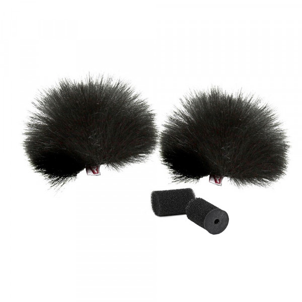 RYCOTE Black Lavalier Windjammer - pair