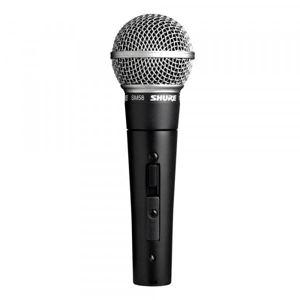 Shure SM58SE zang- en spraakmicrofoon met AAN/UIT schakelaar