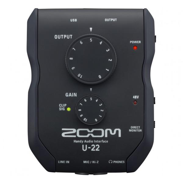 ZOOM U-22 mobiele opname- en prestatie-interface