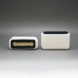 Plopkap voor iPhone 4-5 wit geflockt