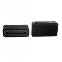 Plopkap voor iPhone Plus / XR / XS MAX / Iphone 11 zwart geflockt