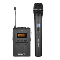 SET: BOYA BY-WM6R ontvanger + BY-WHM8 handheld zender