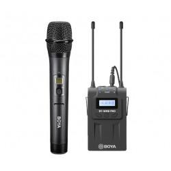 BOYA SET: draadloze microfoon BY-WHM8 PRO + ontvanger BY-RX8 PRO