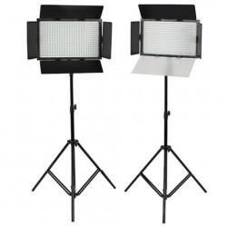 SET: 2x Falcon Eyes DV-384CT-K2 LED Lamp en 2x W806 statief