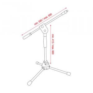 DAP D8112B microfoonstatief Ergo2