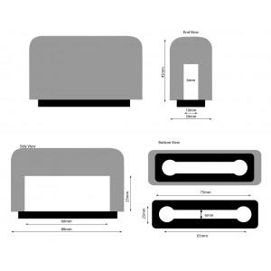 Plopkap voor iPhone 6 en hoger Zwart geflockt