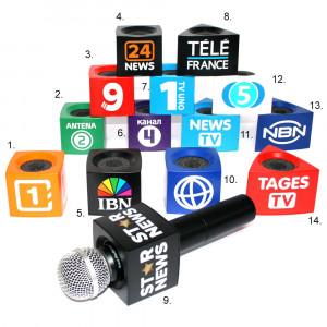 Microfoonflag bedrukt fictieve zenders