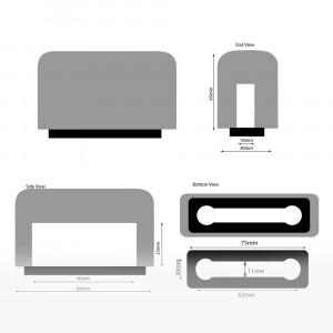 Plopkap voor iPhone 4-5 zwart geflockt