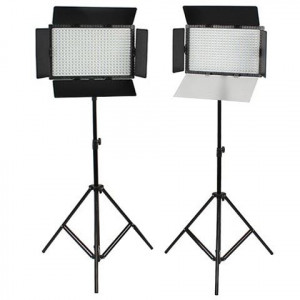 SET: 2x Falcon Eyes DV-384CT-K2 LED Lamp en 2x W806 statief