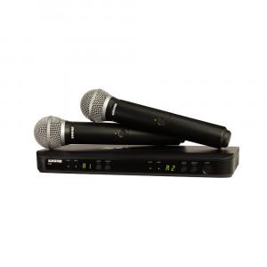 Shure BLX288E/PG58-K14 (614-638 MHz) dual handheld draadloos