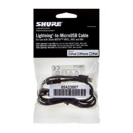 Shure AMV-LTG kabel Lightning naar MicroUSB