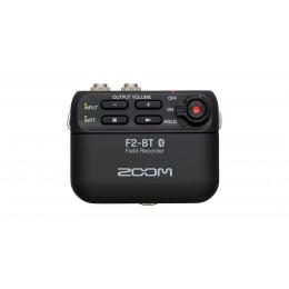 ZOOM F2-BT audio recorder met lavalier mic.